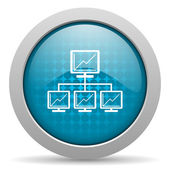 Network blue circle web glossy icon — Stock Photo