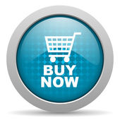 Buy now blue circle web glossy icon — Stock Photo