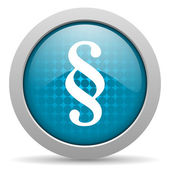 Paragraph blue circle web glossy icon — Stock Photo