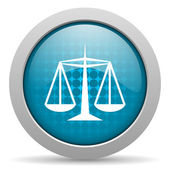 Justice blue circle web glossy icon — Stock Photo