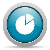 Wykres niebieskie koło www błyszczący ikona — Zdjęcie stockowe