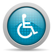 Accessibility blue circle web glossy icon — Stock Photo