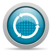 Refresh blue circle web glossy icon — Stock Photo