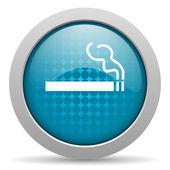 Lesklý ikona webové kouření modrý kruh — Stock fotografie