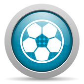 Soccer blue circle web glossy icon — Stock Photo