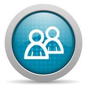 Forum blue circle web glossy icon — Stock Photo