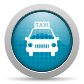 Taxi blue circle web glossy icon — Stock Photo