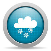Weather forecast blue circle web glossy icon — Stock Photo