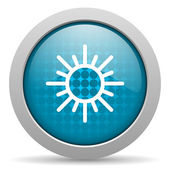 Sun blue circle web glossy icon — Stock Photo
