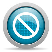 Access denied blue circle web glossy icon — Stock Photo