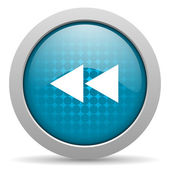 Desplácese icono brillante círculo azul web — Foto de Stock