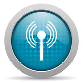 Wifi blue circle web glossy icon — Stock Photo