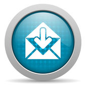 Mail blue circle web glossy icon — Stock Photo