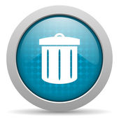 Recycle blue circle web glossy icon — Stock Photo