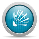 Bomb blue circle web glossy icon — Stock Photo