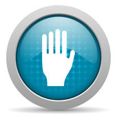 Stop blue circle web glossy icon — Stock Photo