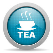Tea blue circle web glossy icon — Stock Photo