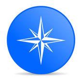 Compass blue circle web glossy icon — Stock Photo