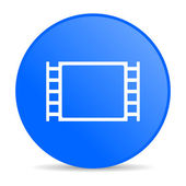 Movie blue circle web glossy icon — Stock Photo