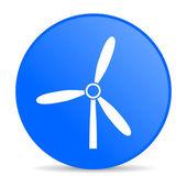 風車のブルーの円 web 光沢のあるアイコン — Stock fotografie
