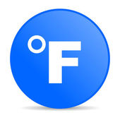 Fahrenheit blue circle web glossy icon — Stock Photo