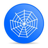 паук веб синий круг веб глянцевой значок — Стоковое фото