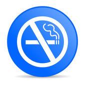 No smoking blue circle web glossy icon — Stock Photo