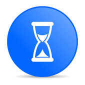 Time blue circle web glossy icon — Photo