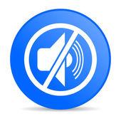 Mute blue circle web glossy icon — Stock Photo