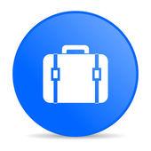 Baggage blue circle web glossy icon — Stock Photo