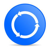 Refresh blue circle web glossy icon — Stock Photo