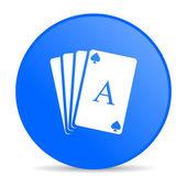 Karty do gry niebieski koło www błyszczący ikona — Zdjęcie stockowe