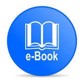 E-книга синий круг веб глянцевой значок — Стоковое фото