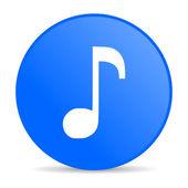 Music blue circle web glossy icon — Stock Photo