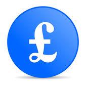 фунт синий круг веб глянцевой значок — Стоковое фото
