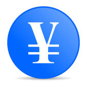 Yen blue circle web glossy icon — Stock Photo