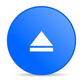 Eject blue circle web glossy icon — Stock Photo