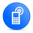 Cellphone blue circle web glossy icon — Stock Photo #24751647