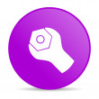 Tools violet circle web glossy icon - Stock Photo