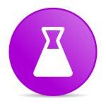 Chemistry violet circle web glossy icon — Stock Photo #24758335