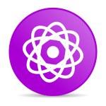 Atom violet circle web glossy icon — Stock Photo #24759315