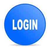 Icône de papier glacé web connexion de cercle bleu — Photo