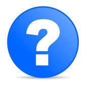问号蓝色圆圈 web 光泽图标 — 图库照片