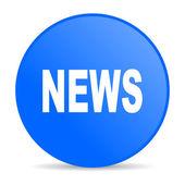 News blue circle web glossy icon — Stock Photo