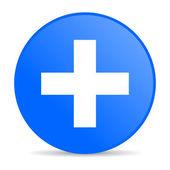 Emergency blue circle web glossy icon — Stock Photo