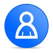 Account blue circle web glossy icon — Stock Photo