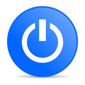 Power blue circle web glossy icon — Stock Photo