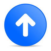 Arrow up blue circle web glossy icon — Stock Photo