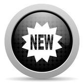 Nowe czarne kółko www błyszczący ikona — Zdjęcie stockowe