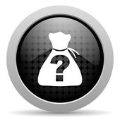 Riddle black circle web glossy icon — Stock Photo